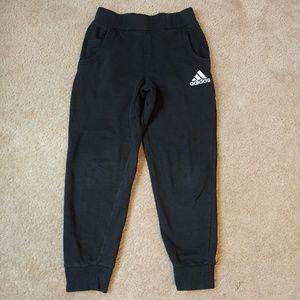 Girls 10/12 black and white Adidas sweatpants